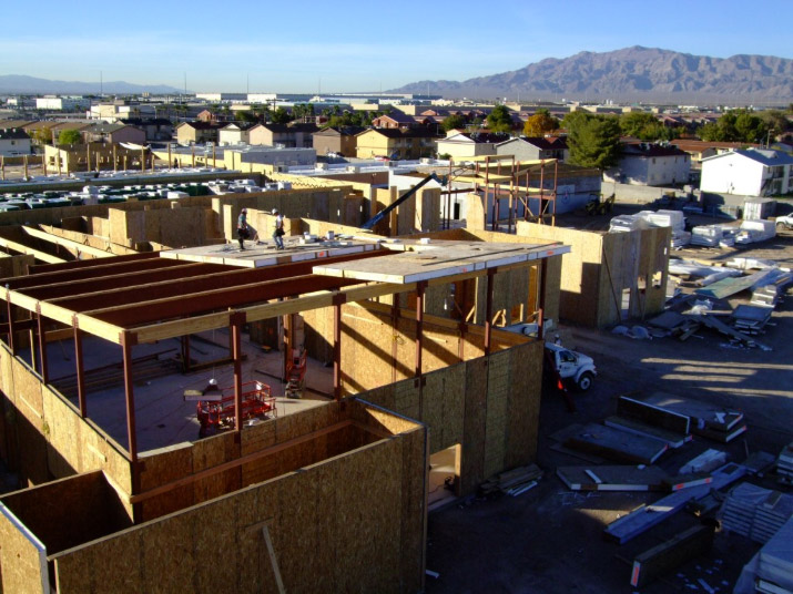 The project team for the Jacob E. Manch Elementary School used structural insulated panels (SIPs) to reduce the project's framing time from 17 to 7 weeks